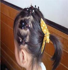 流行美丽头饰发饰品宝宝婴儿童盘发造型发抓水钻迷你梅花小抓夹