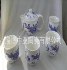 骨瓷 青花 雙層 陶瓷茶具套裝
