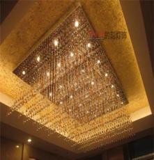 寧夏銀川定做商場超市定制非標酒店別墅會議室工程水晶LED吊燈