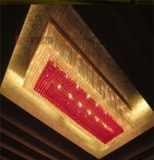 拉薩定做商場超市定制非標酒店別墅燈具會議室工程水晶LED吊燈