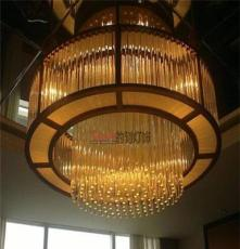 柳州、桂林定做大型非標酒店別墅商場超市工程水晶LED吊燈吸頂燈
