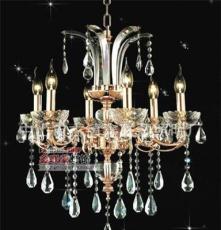 9043 中山灯饰 高品质锌合金蜡烛灯/蜡烛水晶吊灯/餐厅吊灯