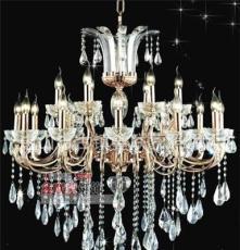 9043 古镇灯具 高档锌合金欧式蜡烛水晶吊灯/工程水晶吊灯