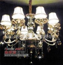 厂家批发 天鹅头锌合金双色电镀蜡烛吊灯/现代吊灯/水晶吊灯
