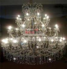 中山灯饰批发 工程水晶蜡烛吊灯/优质夹片灯/售楼工程吊灯