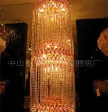 供應水晶吊燈/樓梯燈/工程、別墅 吊燈/ 簡約吊燈/ 酒店吊燈
