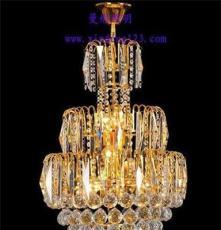 贴片水晶餐吊 金色水晶灯 家用吊灯 中山厂家直销现货供应
