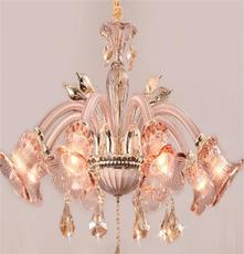 厂家供应长庚2015新款蜡烛灯图片,香槟金锌合金琥珀+内白餐吊灯