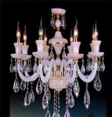 仿云石蜡烛吊灯高档水晶蜡烛灯厂家电