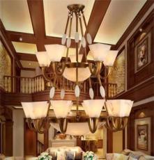 独家定制 咖啡厅 吊灯 灯全铜灯客厅led吊灯欧式仿铜吊灯
