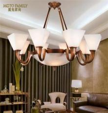 獨家定制 創意餐廳燈全銅燈客廳led吊燈新中式宜家歐式吊燈