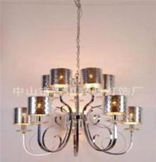 鉻色PVC格吊燈,家居臥室吊燈,別墅訂制現代燈飾。