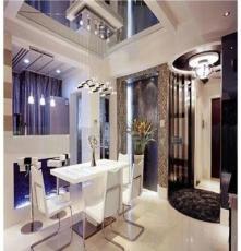 基因圖譜 水晶棒餐廳燈 兩層黑白鋼琴長條水晶柱客廳燈溫馨餐吊燈