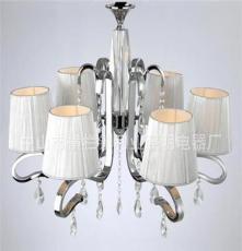 利业 供应欧式现代简约吊灯水晶吊灯家居吊灯布罩吊灯12074-6