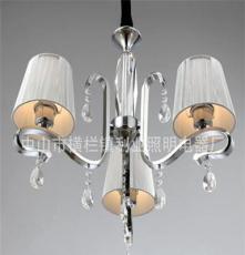 利业 供应欧式现代简约吊灯水晶吊灯家居吊灯布罩吊灯12074-3
