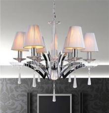 利业 供应欧式现代简约吊灯水晶吊灯家居吊灯布罩吊灯12072-6
