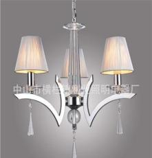 利业 供应现代简约吊灯欧式水晶吊灯家居吊灯布罩吊灯12072-3