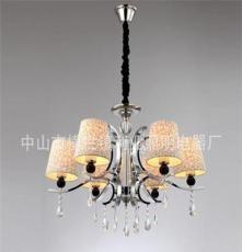利业 供应欧式现代简约吊灯水晶吊灯家居吊灯布罩吊灯12075-6