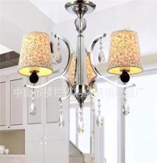 利业 供应欧式现代简约吊灯水晶吊灯家居吊灯布罩吊灯12075-3