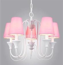 利业 供应欧式吊灯现代田园吊灯家居吊灯布罩吊灯卧室18048-5F