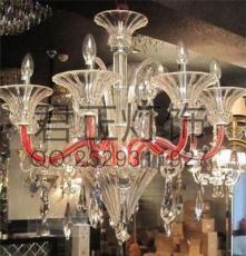 供应厂家直销蜡烛水晶灯 玻璃弯管吊灯 热销新款特价灯饰灯