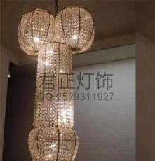 供应厂家直销现代时尚创意水晶大吊灯 酒店会所奢华灯饰