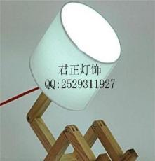 供应厂家直销现代创意个性布艺灯罩木质灯腿 欢迎询价