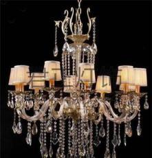 供应厂家直销蜡烛水晶吊灯10头客厅卧室餐厅酒店水晶灯 爆款
