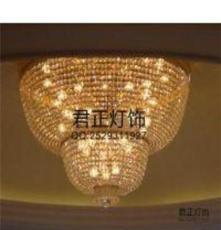 供应厂家专业定做水晶吸顶灯/酒店装修豪华水晶灯
