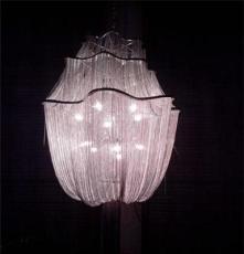 供应厂家直销现代粉色浪漫链条吊灯 客厅卧室灯饰