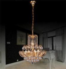 厂家直销金色水晶餐厅吊灯可订做不同尺寸
