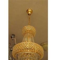 厂家直销金色LED水晶餐厅吊灯可订做尺寸