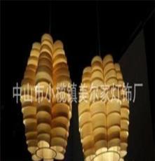 工厂直销,东南亚,纯手工制作,照明木皮餐厅吊灯,创意吊灯,