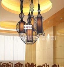 厂家销售 欧式品质铁艺吊灯 复古创意中山铁艺灯 仿古铁艺灯