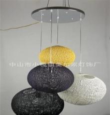 工厂热销 田园卧室麻球吊灯 客厅新款麻球灯