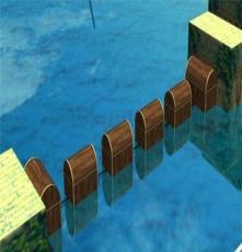 供應三邦戶外水上沖關項目-漂浮寶箱