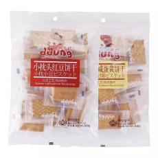 冬己小枕头饼干零食多口味红豆咸蛋黄夹心