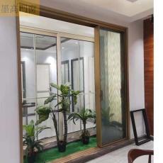 墨高門窗供應黑框玻璃窄邊推拉門時尚又美觀