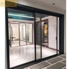 墨高門窗供應簡約時尚全景玻璃窄邊推拉門