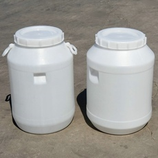 50升塑料桶开口圆桶50L塑料桶80KG糖浆桶