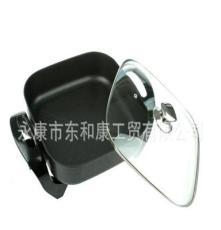 廠家直銷 四方電熱鍋 韓式多功能鍋 不粘無煙 單管 展銷會熱賣