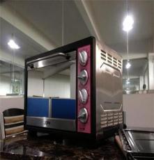 豪通出品烤箱42升高手級烤箱8管 鏡面玻璃全溫型不銹鋼家用電烤箱