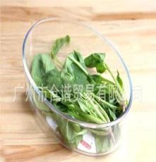 菲內克斯9162-3橢圓鋼化玻璃長圓盤1.5升微波烤箱盤可冷藏沙拉盤
