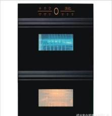 家用嵌入式觸摸屏高低溫消毒碗柜紫外線殺菌雙層不銹鋼碗架K8-18