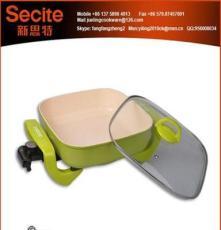 廠家直銷 A3米陶多功能鍋 電火鍋 家用多用鍋 依靈電熱火鍋