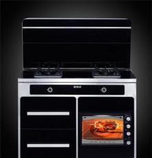 全家樂蒸烤頂吸下排雙電機無煙一體灶,集成環保灶蒸箱集成灶代理