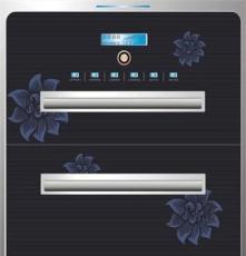 正品家用嵌入式消毒柜 高低溫消毒柜 上下層不銹鋼碗架 廠家批發