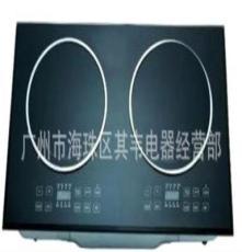 廠家直銷黑色微晶板玻璃灶面板雙頭電磁爐 高檔廚房小家電