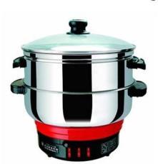 廠家專業提供雙層電熱鍋 多功能電熱鍋 不銹鋼電熱鍋 品質保證