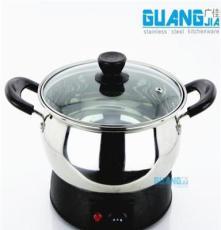 物美價廉無磁不銹鋼連體電熱鍋 多用鍋電火鍋湯鍋20cm-24cm